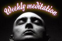 Postcard promoting meditation group